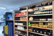 Un lineal de cerveza de Mercadona.