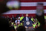 Donald Trumpo, durante un reciente acto electoral en Pennsylvania.