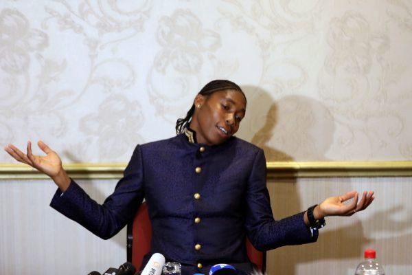 South African athlete <HIT>Semenya</HIT> speaks at a women&amp;apos;s...