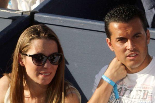 El jugador Pedro junto a su ex Carolina Martín