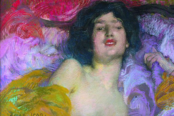 'Femme allongée. Rêverie' de Edmond Aman-Jean, de 1897, que podrá verse en la Fundación Mapfre.