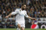 El lateral derecho del Real Madrid Dani Carvajal