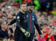 "Premier League - Liverpool v Norwich City Soccer Football - Premier League - Liverpool v Norwich City - Anfield, Liverpool, Britain - August 9, 2019 Liverpool's <HIT>Adrian</HIT> with manager Juergen <HIT>Klopp</HIT> before being substituted on REUTERS/Phil Noble EDITORIAL USE ONLY. No use with unauthorized audio, video, data, fixture lists, club/league logos or ""live"" services. Online in-match use limited to 75 images, no video emulation. No use in betting, games or single club/league/player publications. Please contact your account representative for further details"