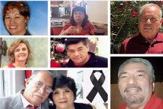 Las victimas: Elsa Mendoza, Mª Eugenia Legarreta, Juan de Dios Velázquez, Gloria Irma Márquez, Iván Filiberto Manzano, Sara Esther Regalado y Adolfo Cerros, Jorge Calvillo.