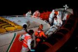Operativo de evacuación realizado por Open Arms y la guardia costera italiana.