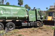 El camión robado en Melilla