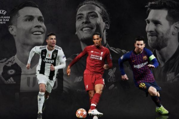 Cristiano, Van Dijk y Messi.
