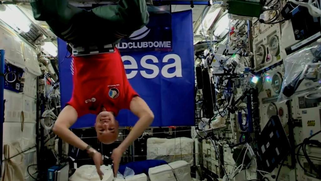 Luca Parmitano en la Estación Espacial Internacional.