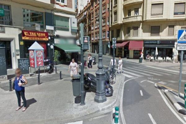 Esquina de la capital valenciana en la que se produjo el...
