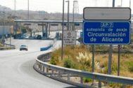 Uno de los peajes de la AP7 situada a la altura de Alicante, en una imagen de archivo.