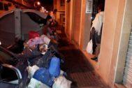 Imagen de un contenedor lleno de bolsas de basura en el barrio de 'Bola de oro', hace unos días.
