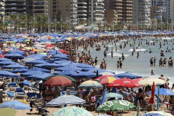 Playa de Levante en Benidorm.