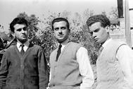 Juan, José Agustín y Luis Goytisolo, en 1954.