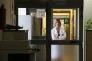 Beatriz Massa en el Hospital de Sant Joan durante la entrevista