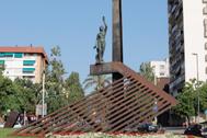 Plaza de la República en el distrito de Nou Barris, en Barcelona.