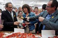 La consellera Teresa Jordà, en una foto de archivo junto al president Quim Torra