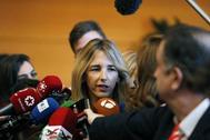 Cayetana Álvarez de Toledo, en la investidura de Isabel Díaz Ayuso el pasado miércoles.