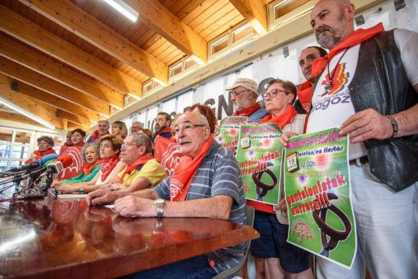 El Movimiento de Pensionistas de Bizkaia convocan una manifestación en Bilbao.