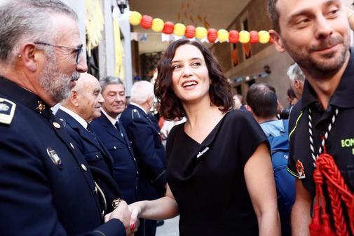 Díaz Ayuso, en la fiesta de La Paloma.