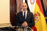 Luis Rubiales, presidente de la Federación Española de Fútbol.
