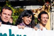Teresa Rodríguez y José María González 'Kichi' (a la derecha), durante una manifestación en Madrid en 2015.