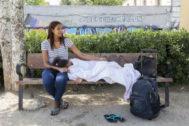 Familia de inmigrantes venezolana solicita asilo en España.