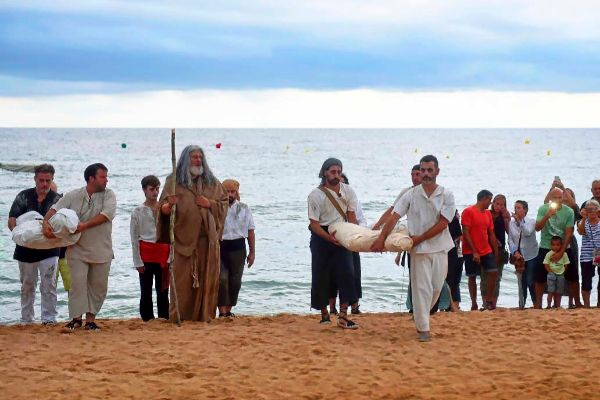 Recreación de la llegada de la peste a Arenys