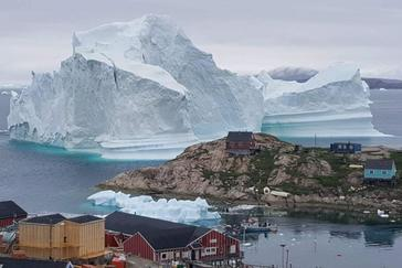Vista de un iceberg situado en el municipio de Avannaata, Groenlandia.
