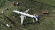 El avión que realizó el jueves un aterrizaje de emergencia cerca de Moscú.