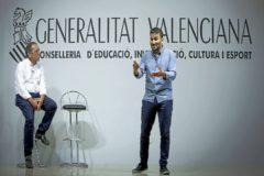 El secretario autonómico de Educación, Miguel Soler, junto al conseller Vicent Marzà, en una rueda de prensa.