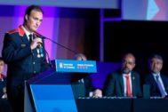 El comisario jefe, Eduard Sallent, durante el Dia de les Esquadres celebrado en Barcelona el pasado junio .