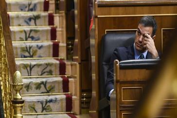 Pedro Sánchez, el pasado febrero, en el debate del Proyecto de Ley Presupuestos Generales del Estado.