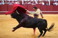 Pase de pecho de El Cid al segundo de Lagunajanda, en el día de su despedida de La Malagueta.