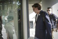 El director general de Política Lingüística, Rubén Trenzano, cuando acudió al juzgado por una supuesta falsedad documental.
