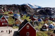 Icebergs junto al pueblo de Ilulissat, en Groenlandia.