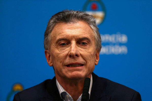 FILE PHOTO: Argentina&amp;apos;s President Mauricio <HIT>Macri</HIT> attends a...