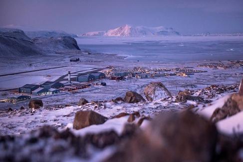 Base aérea estadounidense de Thule, en Groenlandia.