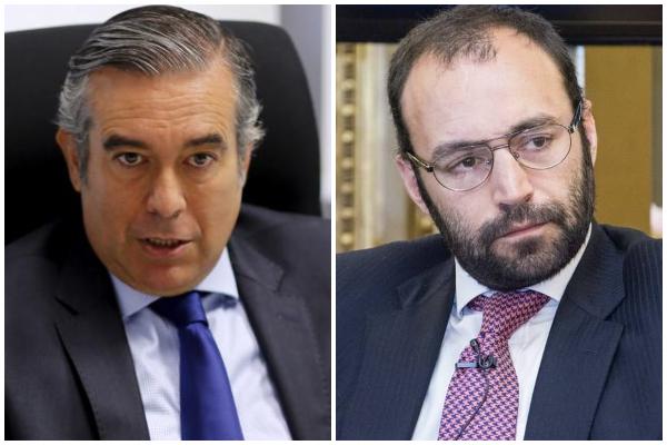 A la izquierda, el magistrado Enrique López, nuevo consejero de...