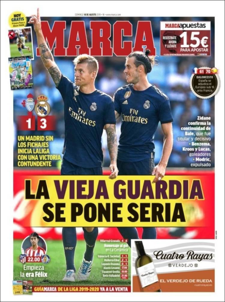 Las portadas de los periódicos deportivos del 18 de agosto