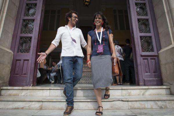 Teresa Rodríguez y José María González, 'Kichi'.