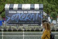 La caseta de Bilbao donde fueron retiradas las fotos de etarras