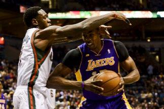 Dwight Howard, en su época con los Lakers.