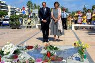 Quim Torra, en la ofrenda floral en Cambril por el 17-A