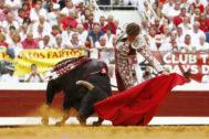 Cumbre de Ginés Marín con una encastada corrida de Santiago Domecq