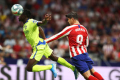 Morata cabeceó la primera para el Atlético
