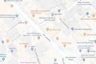 Localizador de la calle Via Laietana, lugar donde se ha producido el robo
