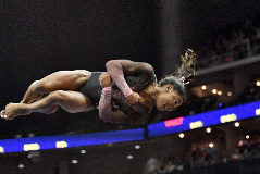 Simone Biles, el pasado domingo, en el USA Nationals.