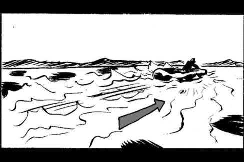 Viñeta del story board de 'Quien a hierro mata' dibujada por José Ángel Ares