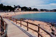 Playa de Sant Feliu donde se produjo el ahogamiento