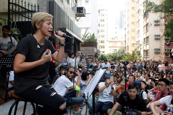 Hong Kong pro-democracy singer <HIT>Denise</HIT> <HIT>Ho</HIT>...